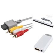Insten® 737033 3-Piece Game Adapter Bundle For Nintendo Wii/Wii U/Nintendo Wii to HDMI