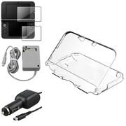 Insten® 737255 4-Piece Game Car Charger Bundle For Nintendo DSi/DSi LL/XL/2DS/3DS