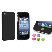 Insten® 738008 2-Piece iPhone Case Bundle For Apple iPhone 4/4S, Apple iPhone/iPad/iPod Touch