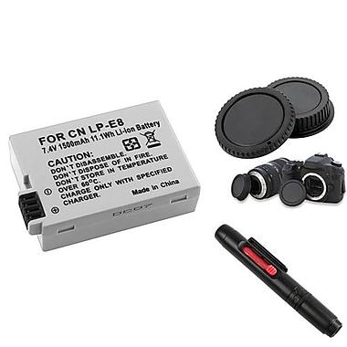 Insten® 752073 3-Piece DV Battery Bundle For EOS Rebel T2i/Canon EOS