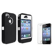 Insten® 752784 2-Piece iPhone Case Bundle For Apple iPhone 4/4S, Apple iPhone 4/4S, Apple iPhone 4