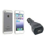 Insten® 791293 2-Piece Car Charger Bundle For Apple iPhone 5/5S