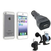 Insten® 791309 3-Piece iPhone Car Charger Bundle For Apple iPhone 5/5S