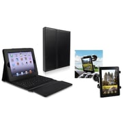 Insten® 810670 2-Piece Tablet Keyboard Bundle For Apple iPad 2/3/4