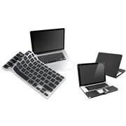 Insten® 814408 2-Piece MacBook Case Bundle For Apple MacBook Pro 13