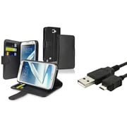 Insten® 819359 2-Piece Cable Bundle For Samsung Galaxy Note II N7100