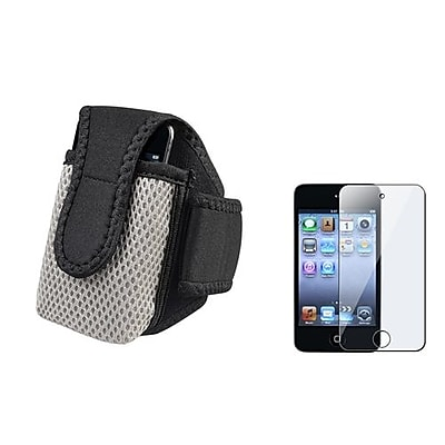 Insten 834129 2-Piece MP3 Armband Bundle For MP3\/Cell Phones\/Apple iPod Touch 4th Gen