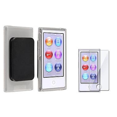 Insten® 857286 2-Piece MP3 Screen Protector Bundle For Apple iPod Nano 7th Gen