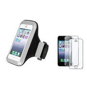 Insten® 870193 2-Piece iPhone Armband Bundle For Apple iPhone 5/5C/5S/iPod Touch 5th Gen