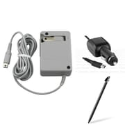 Insten® 873537 3-Piece Game Car Charger Bundle For Nintendo DSi/DSi LL/XL/2DS/3DS