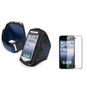 Insten® 922470 2-Piece iPhone Armband Bundle For Apple iPhone 5/5C/5S/iPod Touch 5th Gen
