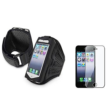 Insten® 922495 2-Piece iPhone Armband Bundle For Apple iPhone 5/5C/5S/iPod Touch 5th Gen