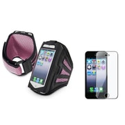 Insten® 922595 2-Piece iPhone Armband Bundle For Apple iPhone 5/5C/5S/iPod Touch 5th Gen