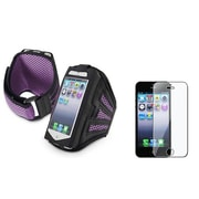 Insten® 922620 2-Piece iPhone Armband Bundle For Apple iPhone 5/5C/5S/iPod Touch 5th Gen