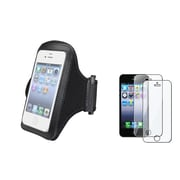 Insten® 933626 2-Piece iPhone Armband Bundle For Cell Phone/MP3 Player/Apple iPhone 5/5C/5S