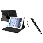 Insten 948287 Synthetic Leather Swivel Stand Case for Apple iPad Mini with Retina Display Tablet, Black