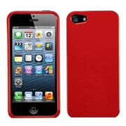 Insten® Phone Protector Cover F/iPhone 5/5S, Solid Flaming Red
