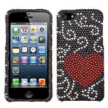 Insten® Diamante Protector Cover F/iPhone 5/5S, Heart