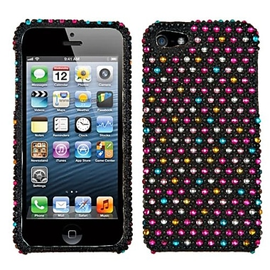 Insten® Diamante Phone Protector Cover F/iPhone 5/5S, Sprinkle Dots