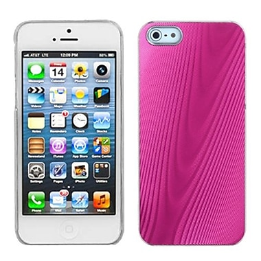 Insten® Cosmo Back Protector Cover W/Clear Side Edges F/iPhone 5/5S, Hot-Pink