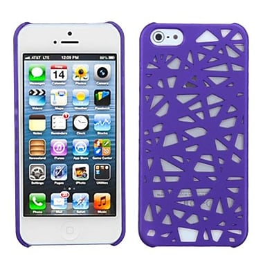 Insten® Rubberized Back Protector Cover F/iPhone 5/5S, Purple Bird's Nest