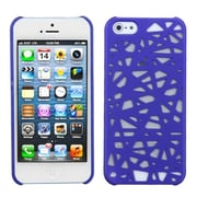 Insten® Rubberized Back Protector Cover F/iPhone 5/5S, Dark Blue Bird's