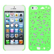 Insten® Rubberized Back Protector Cover F/iPhone 5/5S, Green Bird's Nest