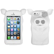 Insten® Pig Nose Cover F/iPhone 5/5S, White
