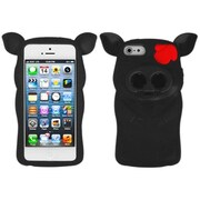 Insten® Pig Nose Cover F/iPhone 5/5S, Black