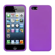 Insten® Solid Skin Cover F/iPhone 5/5S, Electric Purple