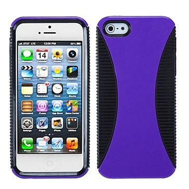 Insten® Mixy Phone Protector Cover F/iPhone 5/5S, Purple/Black