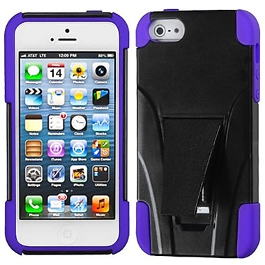 Insten® Protector Cover W/Inverse Advanced Armor Stand F/iPhone 5/5S, Purple