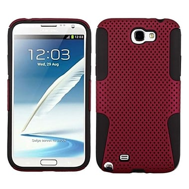 Insten® Astronoot Phone Protector Cover F/Samsung Galaxy Note II (T889/I605), Red/Black