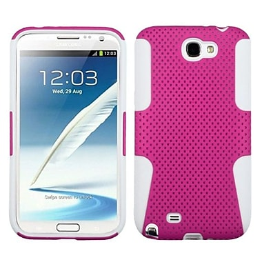 Insten® Astronoot Phone Protector Case For Samsung Galaxy Note II (T889/I605), Hot-Pink/Solid White
