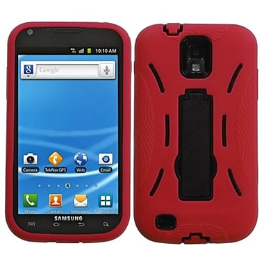 Insten® Symbiosis Stand Protector Case For Samsung T989 Galaxy S2, Black/Red