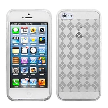 Insten® Argyle Candy Skin Cover F/iPhone 5/5S, T-Clear