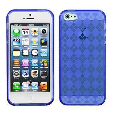 Insten® Argyle Candy Skin Cover F/iPhone 5/5S, Dark Blue