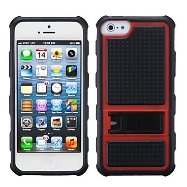 Insten® Gummy Covers W/Armor Stand F/iPhone 5/5S