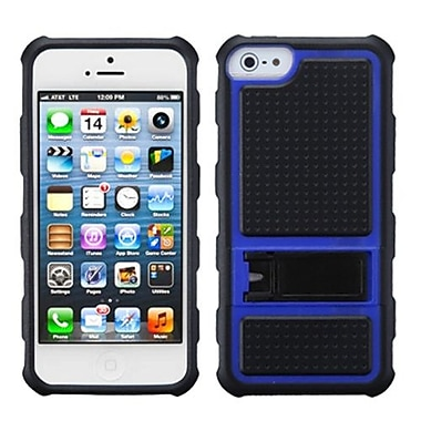 Insten® Gummy Armor Stand For iPhone 5/5S, Dark Blue