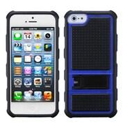 Insten® Gummy Armor Stand For iPhone 5/5S, Dark Blue