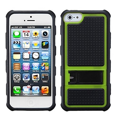 Insten® Gummy Case W/Armor Stand F/iPhone 5/5S, Green