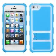 Insten® Gummy Case W/Armor Stand F/iPhone 5/5S, Baby Blue