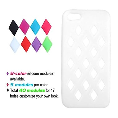 Insten® Module Skin Cover F/iPhone 5/5S, White
