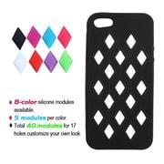 Insten® Module Skin Cover F/iPhone 5/5S, Black