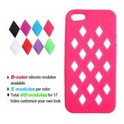 Insten® Module Skin Cover F/iPhone 5/5S, Electric Pink