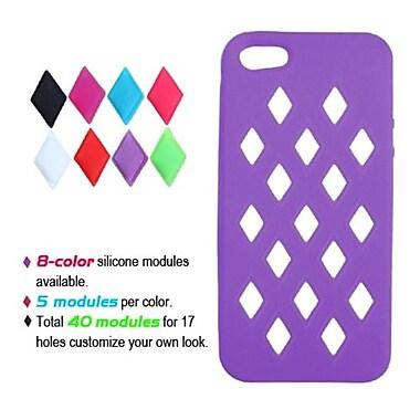 Insten® Module Skin Cover F/iPhone 5/5S, Electric Purple