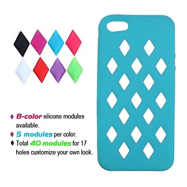 Insten® Module Skin Cover F/iPhone 5/5S, Tropical Teal