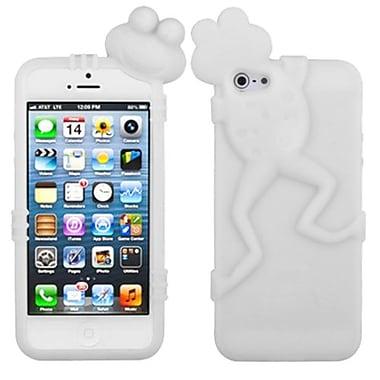 Insten® Frog Peeking Pets Skin Cover F/iPhone 5/5S, White