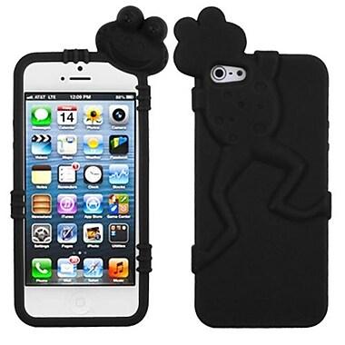 Insten® Frog Peeking Pets Skin Cover F/iPhone 5/5S, Black
