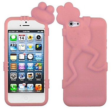 Insten® Frog Peeking Pets Skin Cover F/iPhone 5/5S, Pink